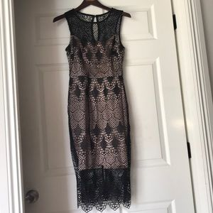 New Bisou Bisou size 2 Black lace dress